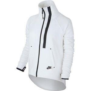 NIKE tech fleece moto cape jacket black white XS